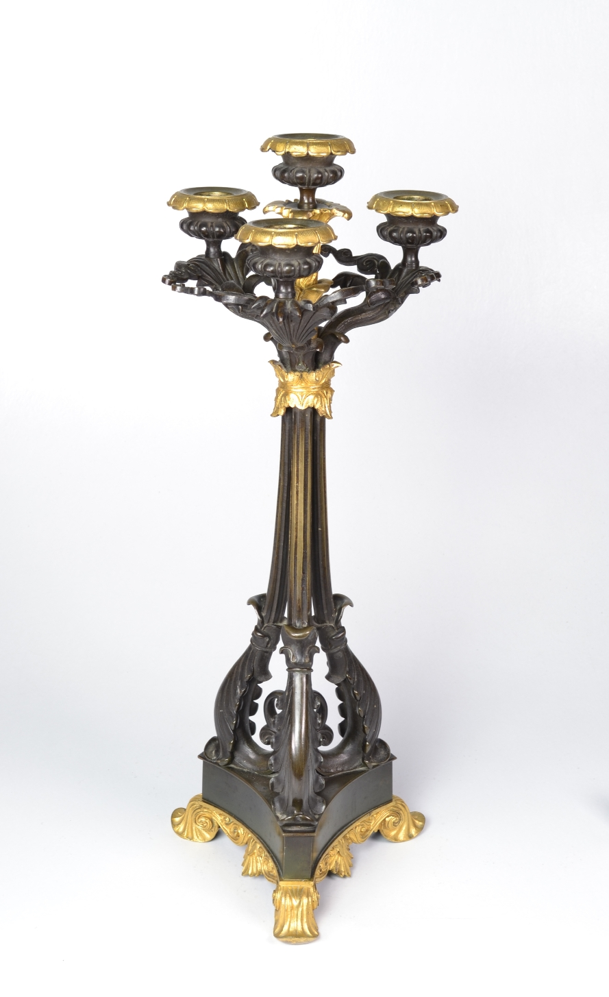 View 5: Pair of Louis-Philippe Bronze and Ormolu Candelabra, c. 1840
