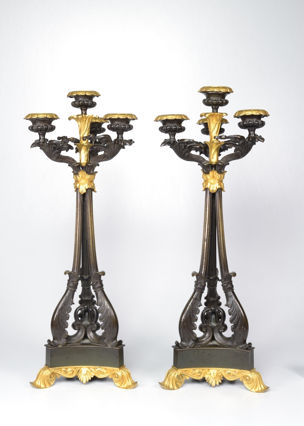 View 10: Pair of Louis-Philippe Bronze and Ormolu Candelabra, c. 1840