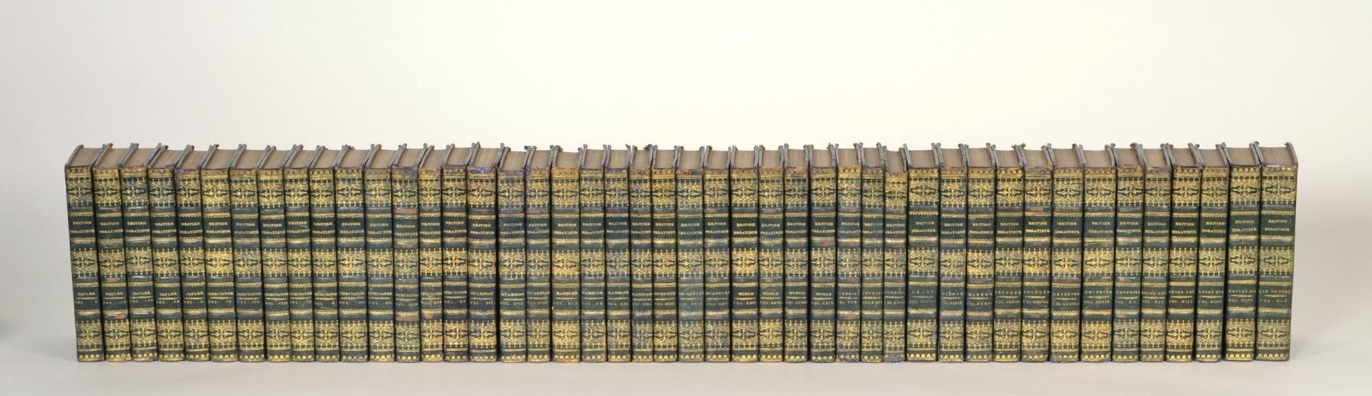View 10: The British Essayists, Complete Set in 45 Volumes, 1819