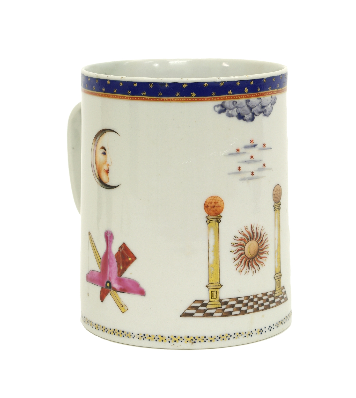 Chinese Export Masonic Mug, c. 1795