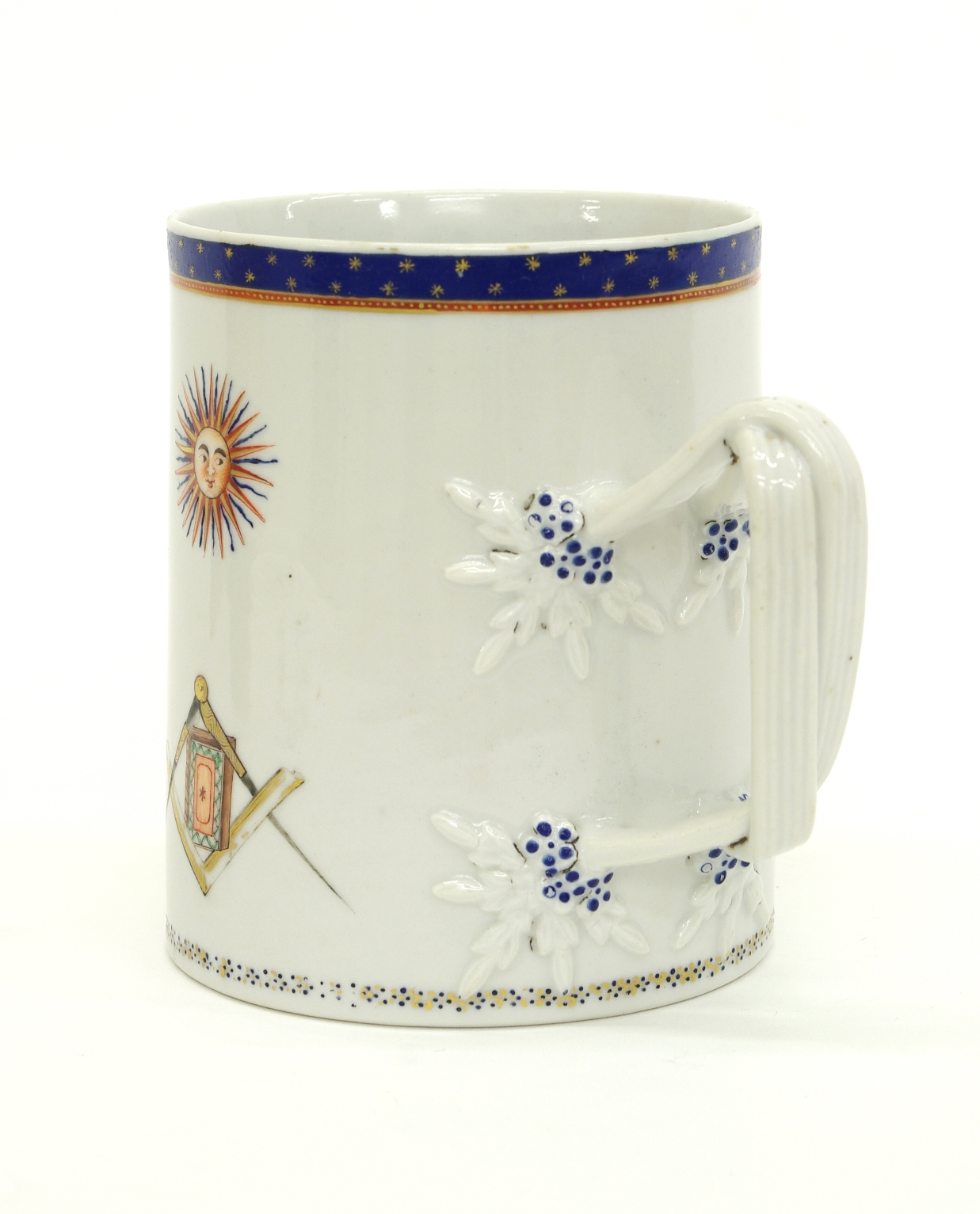 View 5: Chinese Export Porcelain Masonic Mug, c. 1795