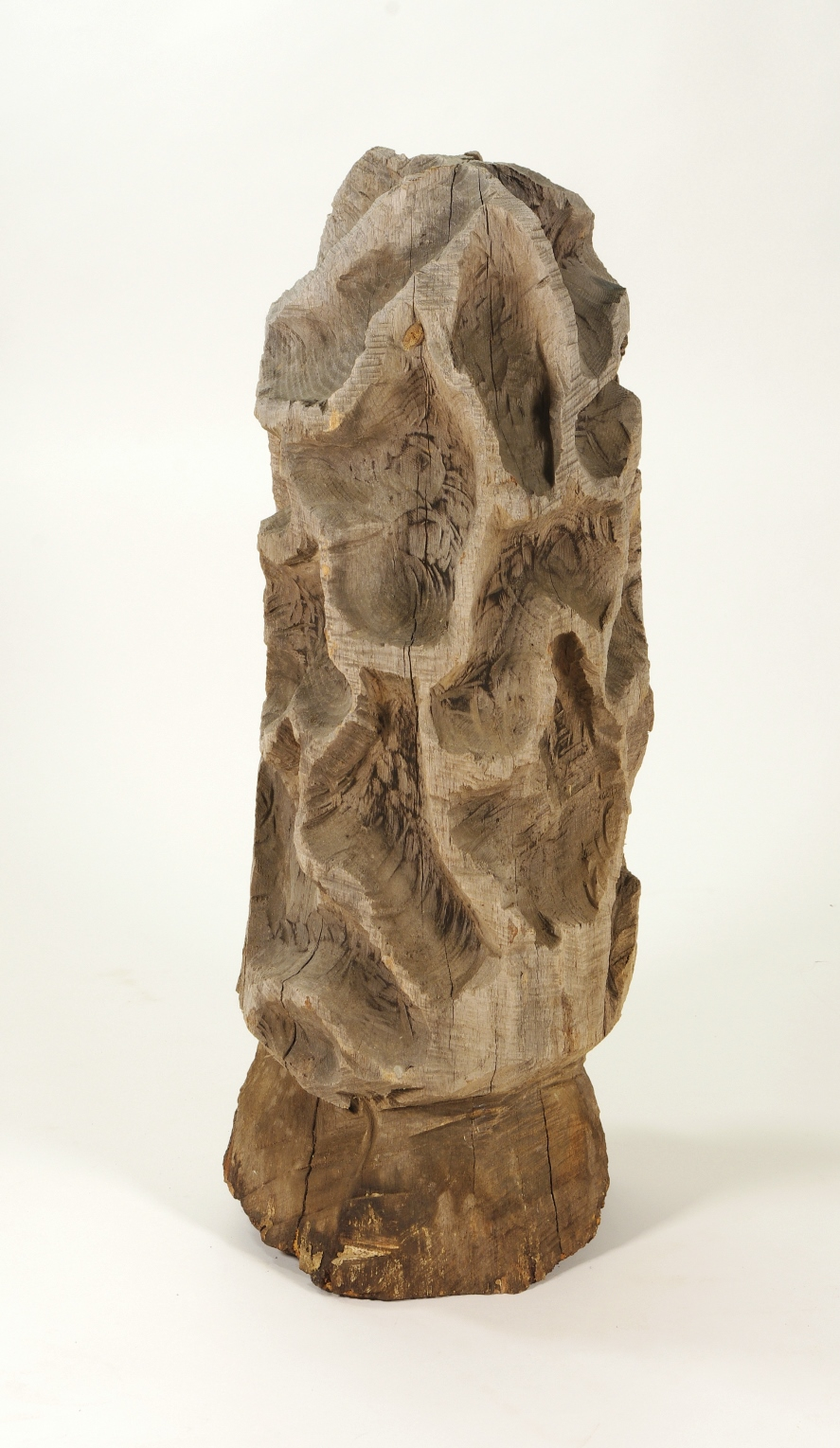 View 3: Folk Art Carved Morel Mushroom Sculpture, Mid 20th c.