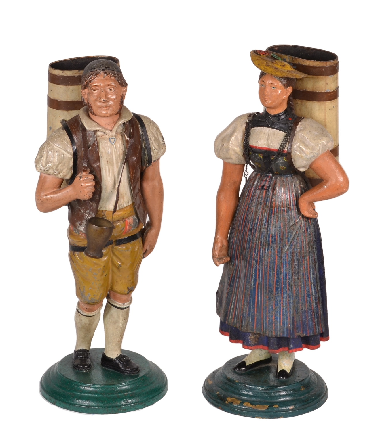 Pair of Tole Figures, c. 1820-40