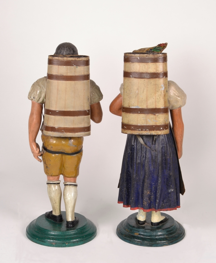 View 2: Pair of Tole Figures, c. 1820-40