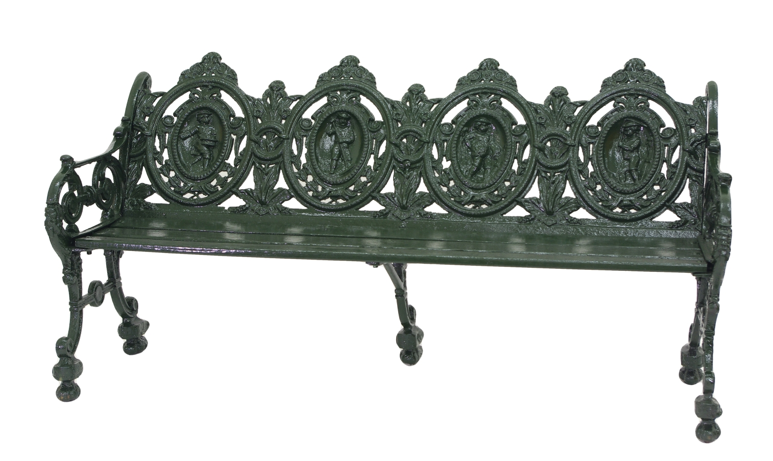 Cast Iron Garden Bench, 1880