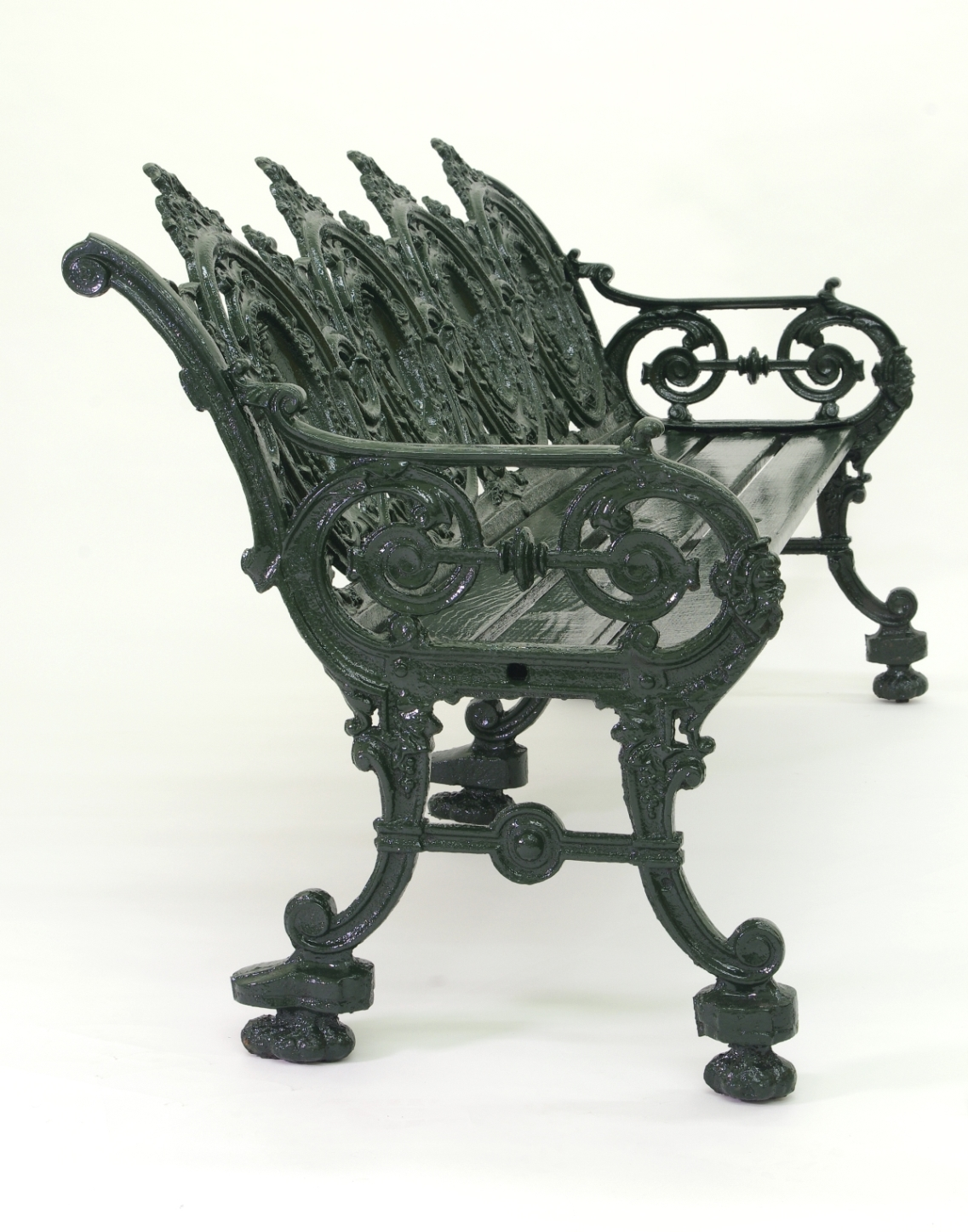 View 2: Cast Iron Garden Bench, 1880