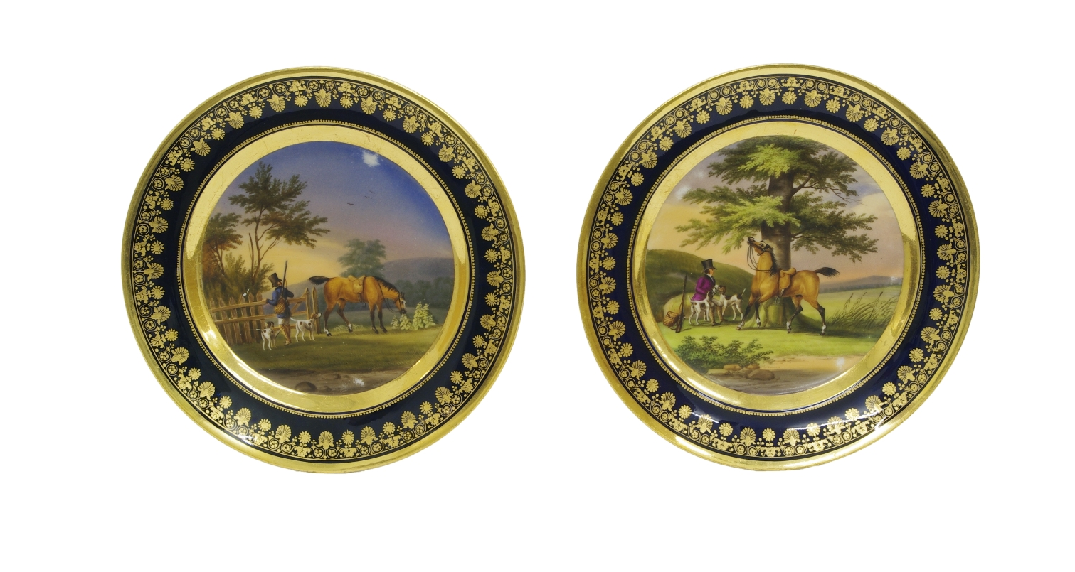 View 1: Pair of Old Paris Cabinet Plates, c. 1820
