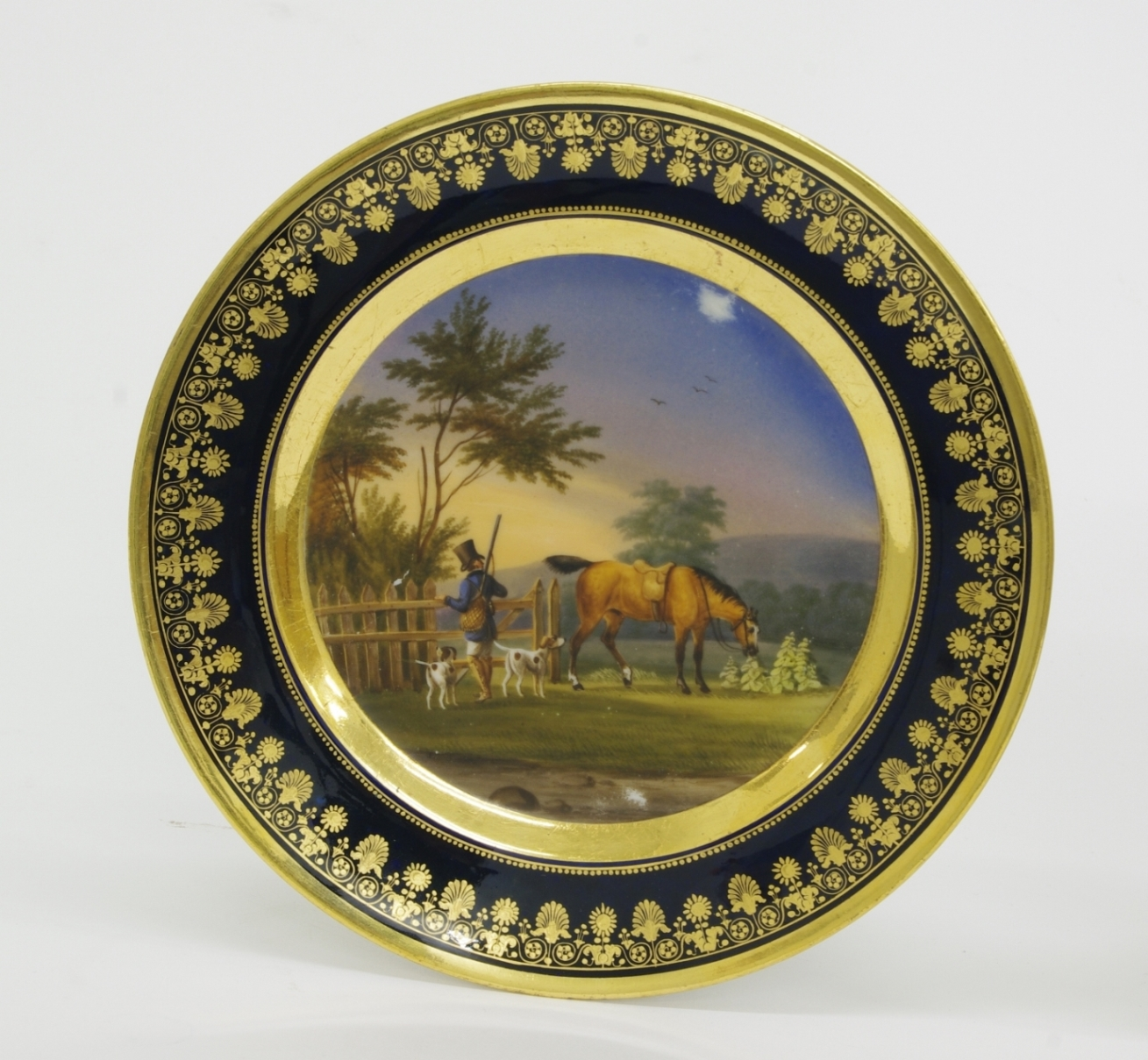 Pair of Old Paris Cabinet Plates, c. 1820