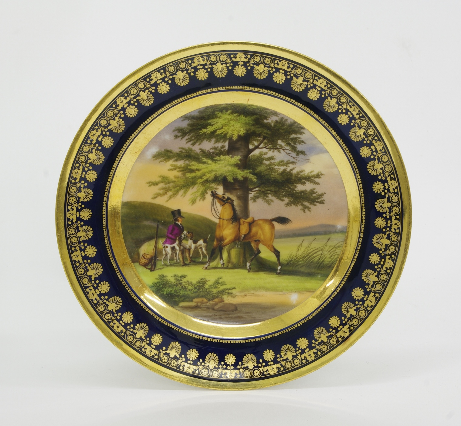 View 3: Pair of Old Paris Cabinet Plates, c. 1820