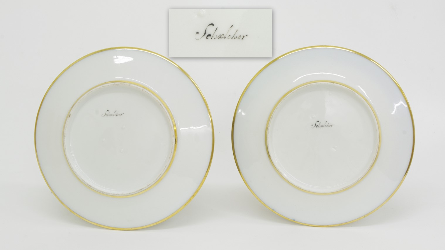 View 4: Pair of Old Paris Cabinet Plates, c. 1820