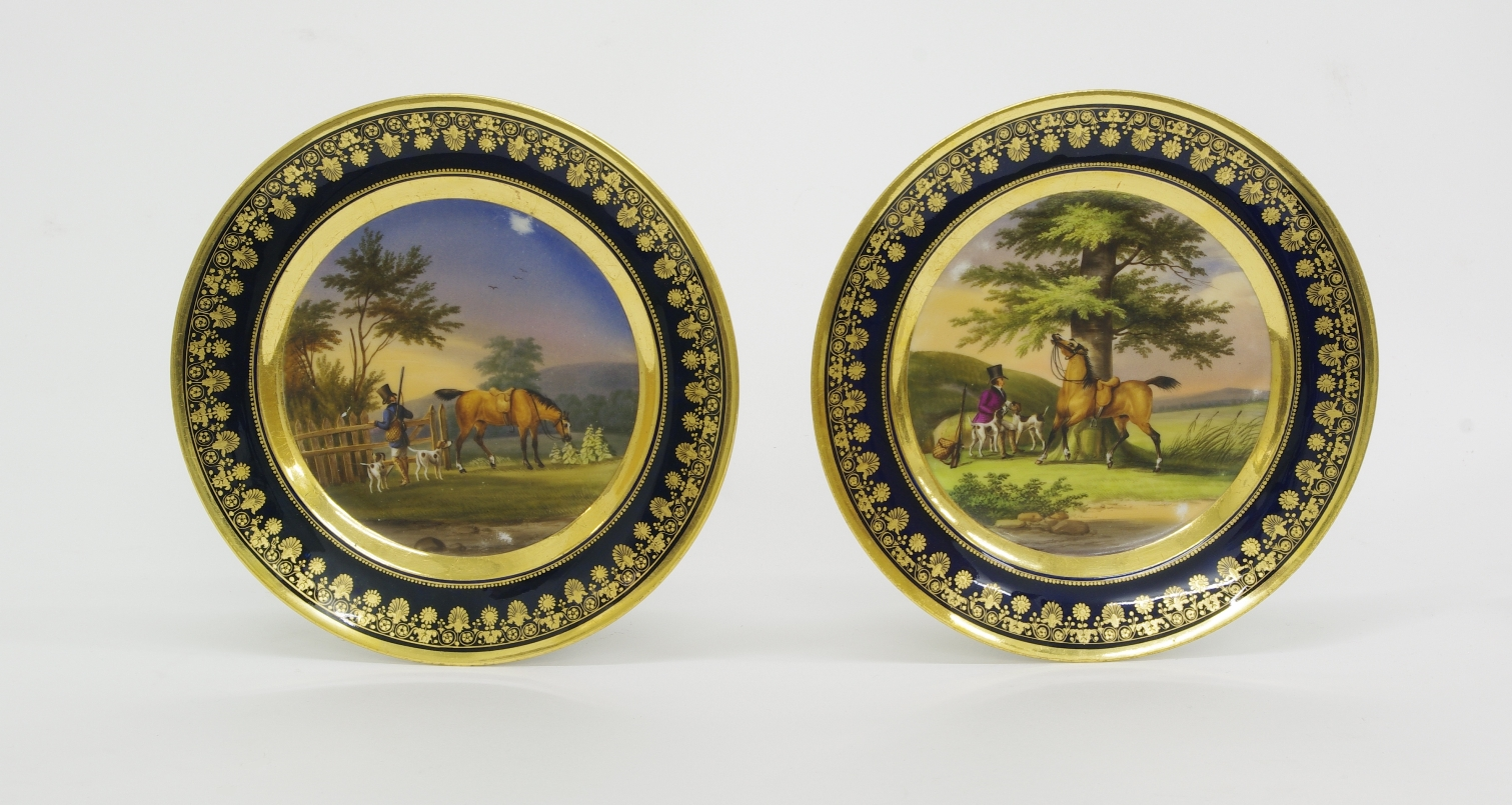 View 5: Pair of Old Paris Cabinet Plates, c. 1820