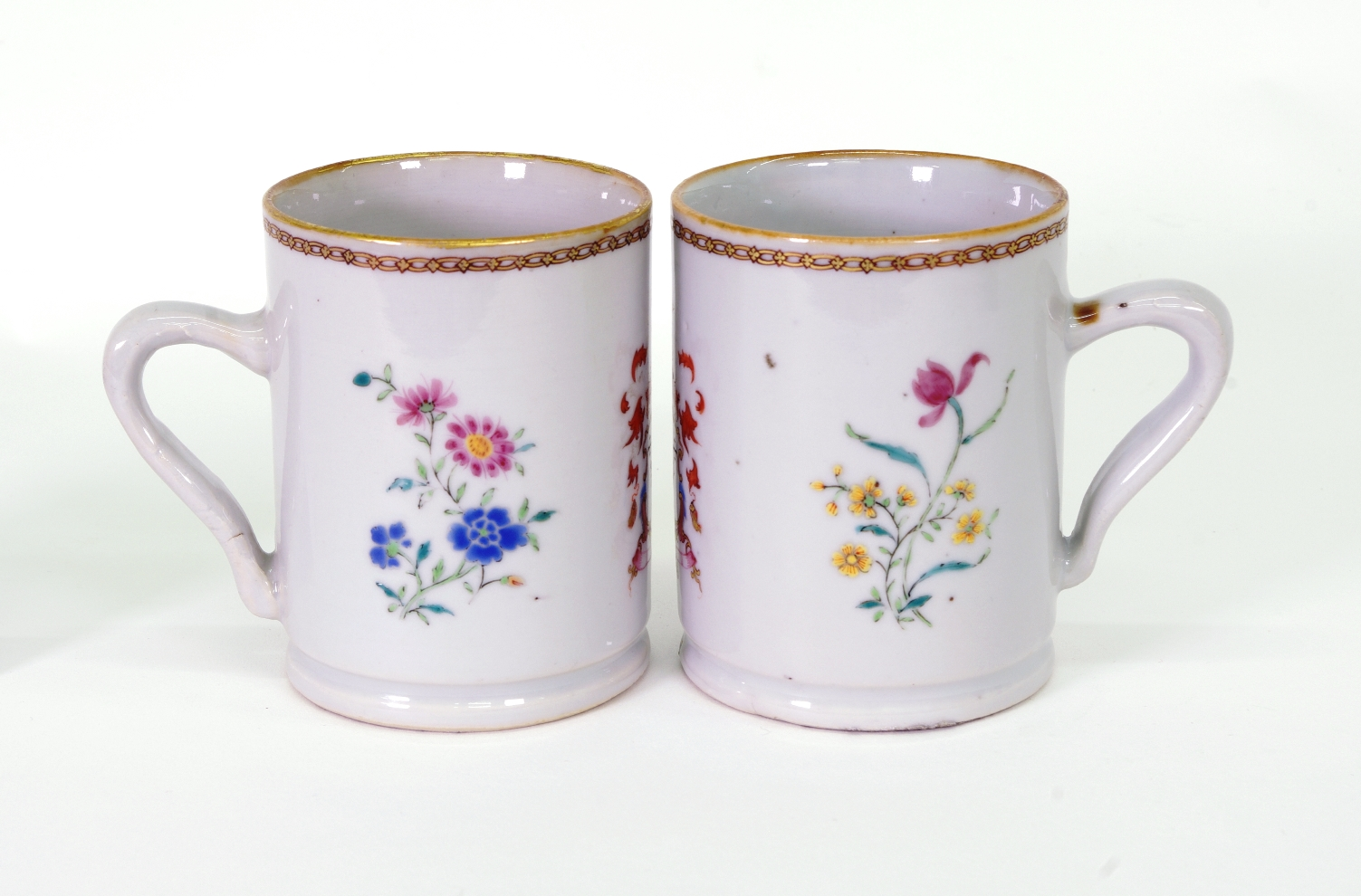 View 4: Pair of Chinese Export Armorial Small Mugs, c. 1750