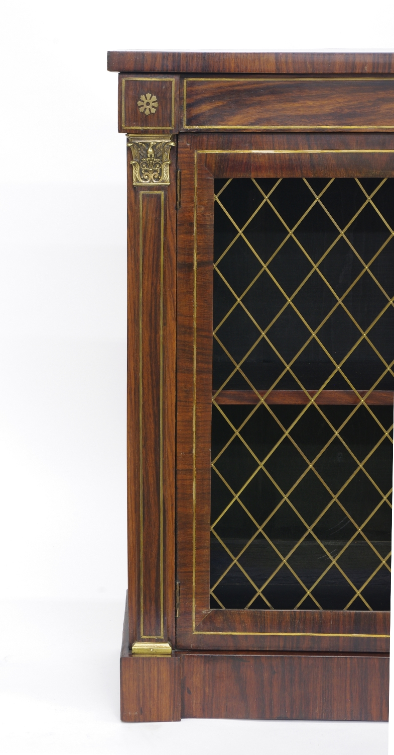 View 6: Regency Rosewood Bookcase Cabinet, c. 1820
