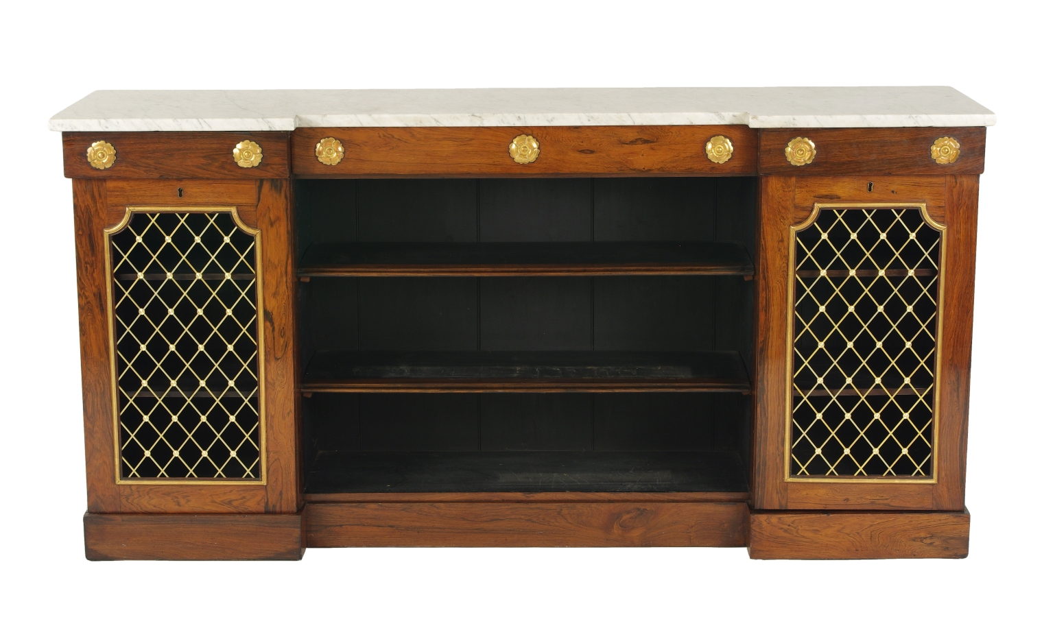 William IV Rosewood Side Cabinet, c. 1830