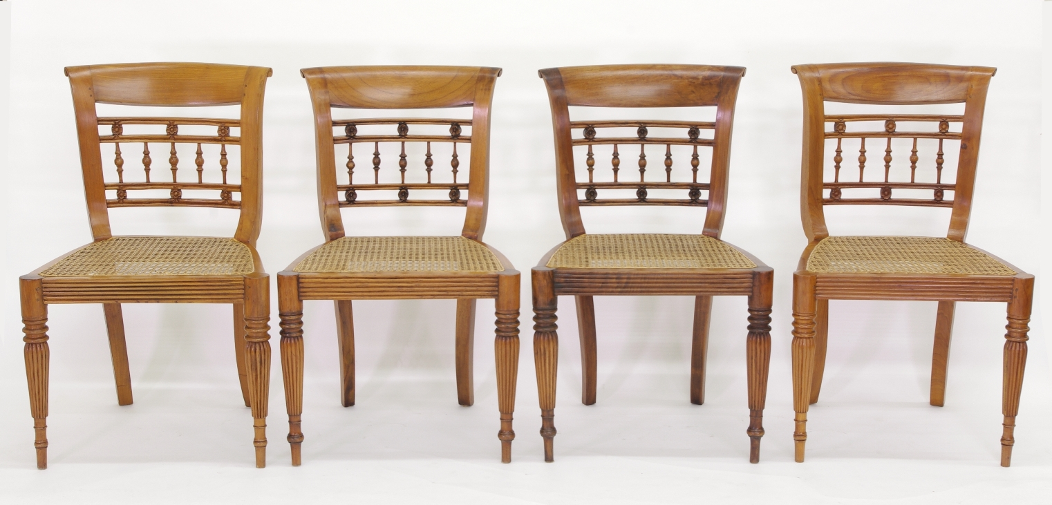 View 2: Set of Six British Colonial Dining Chairs, c. 1830