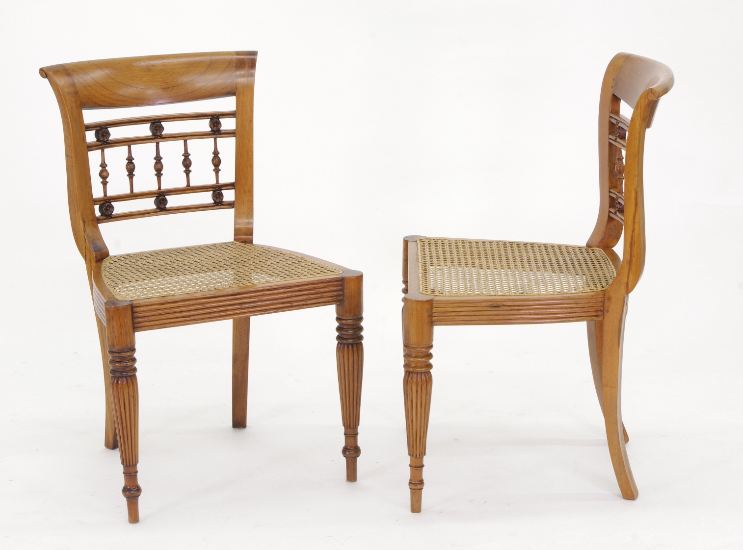 View 5: Set of Six British Colonial Dining Chairs, c. 1830