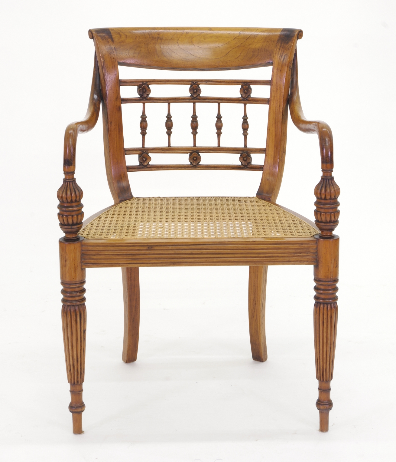View 6: Set of Six British Colonial Dining Chairs, c. 1830