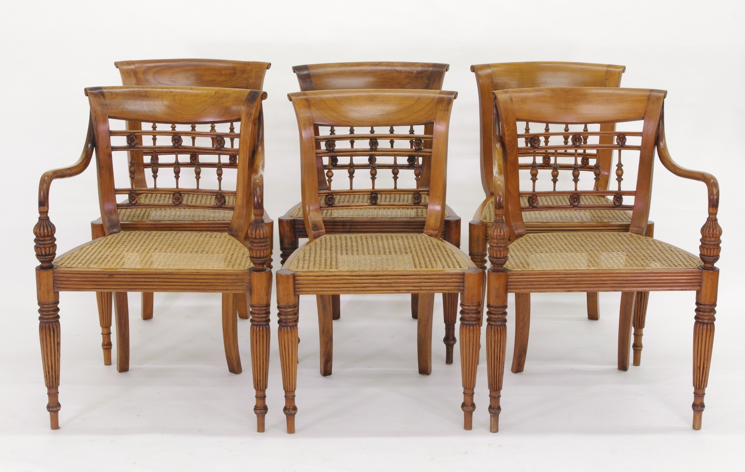 View 11: Set of Six British Colonial Dining Chairs, c. 1830