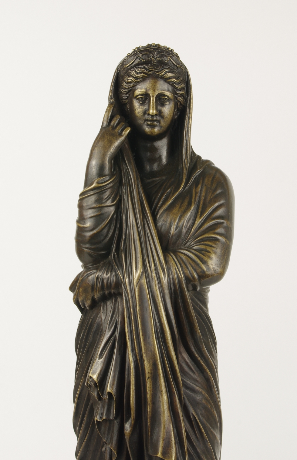 View 4: Grand Tour Bronze Figure of Pudicity, c. 1890