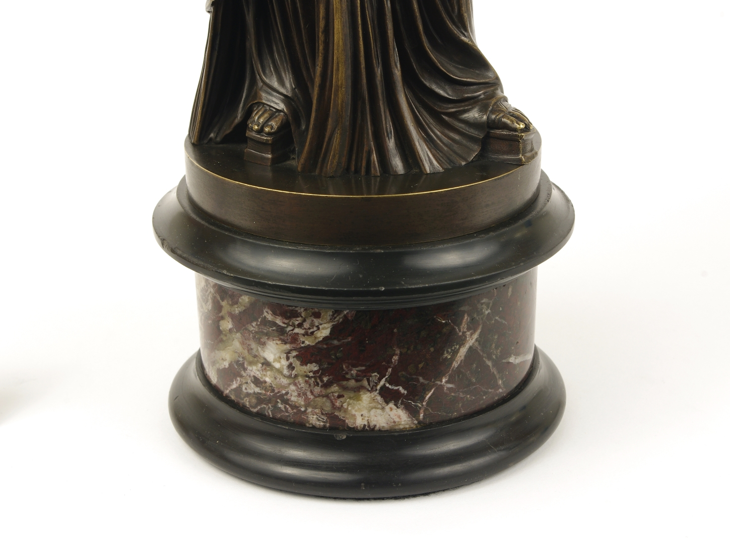 View 7: Grand Tour Bronze Figure of Pudicity, c. 1890
