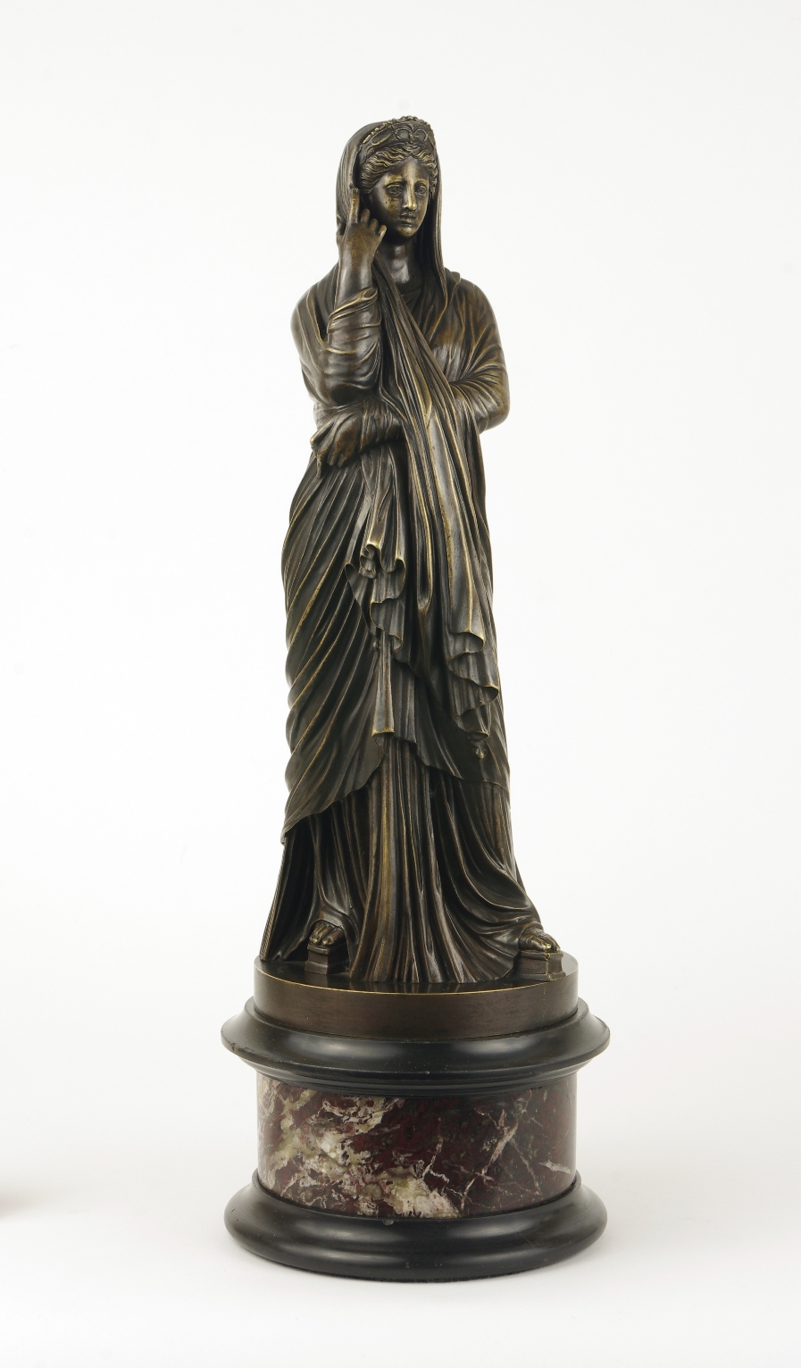 View 10: Grand Tour Bronze Figure of Pudicity, c. 1890