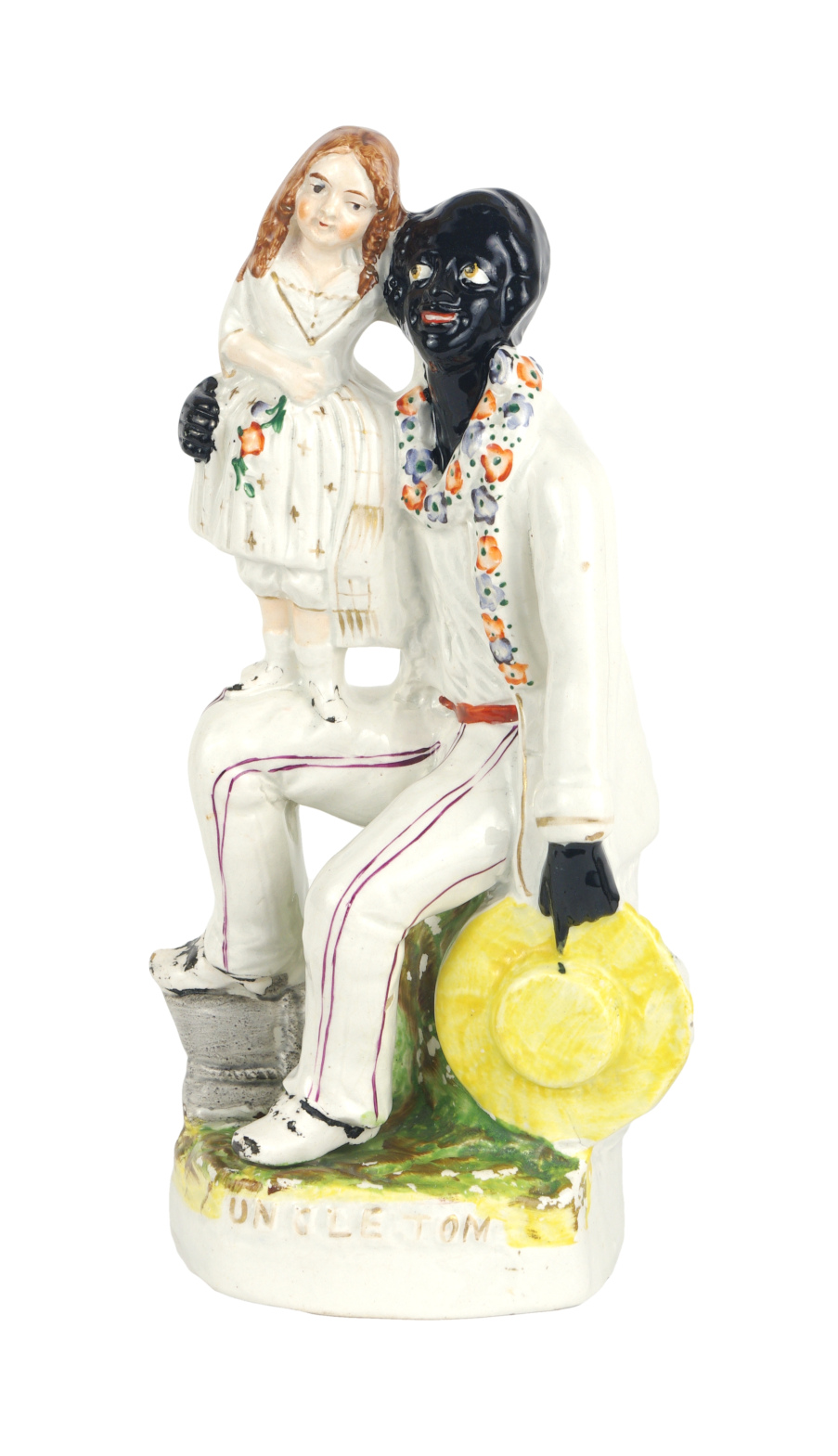"Staffordshire Figure, ""Uncle Tom and Eva"", c. 1852"