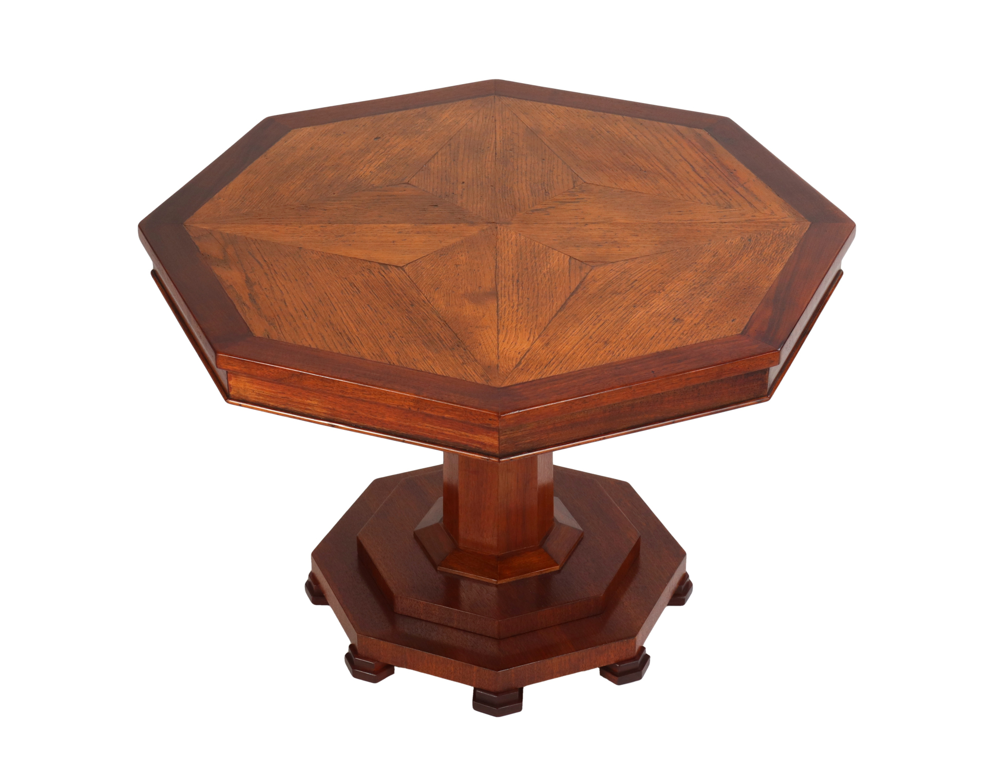 Oak Floor Panel Mounted as a Coffee Table, 19th c.