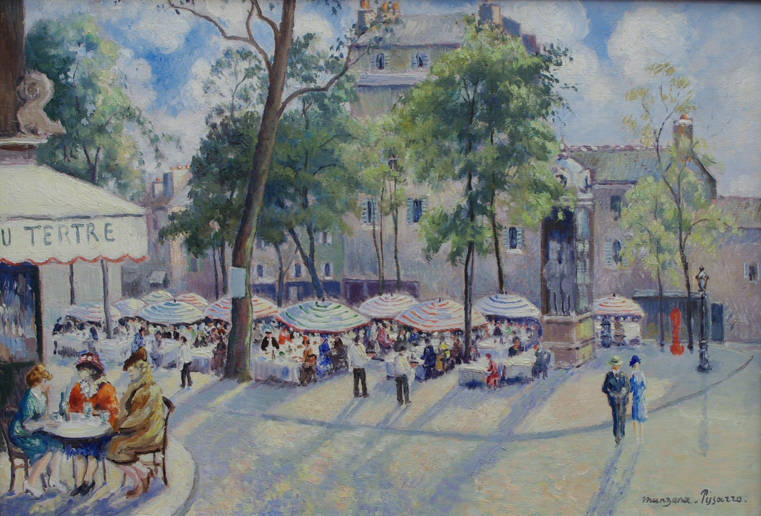 "Georges Manzana Pissarro (1871-1961) French ""Place du Tertre"""