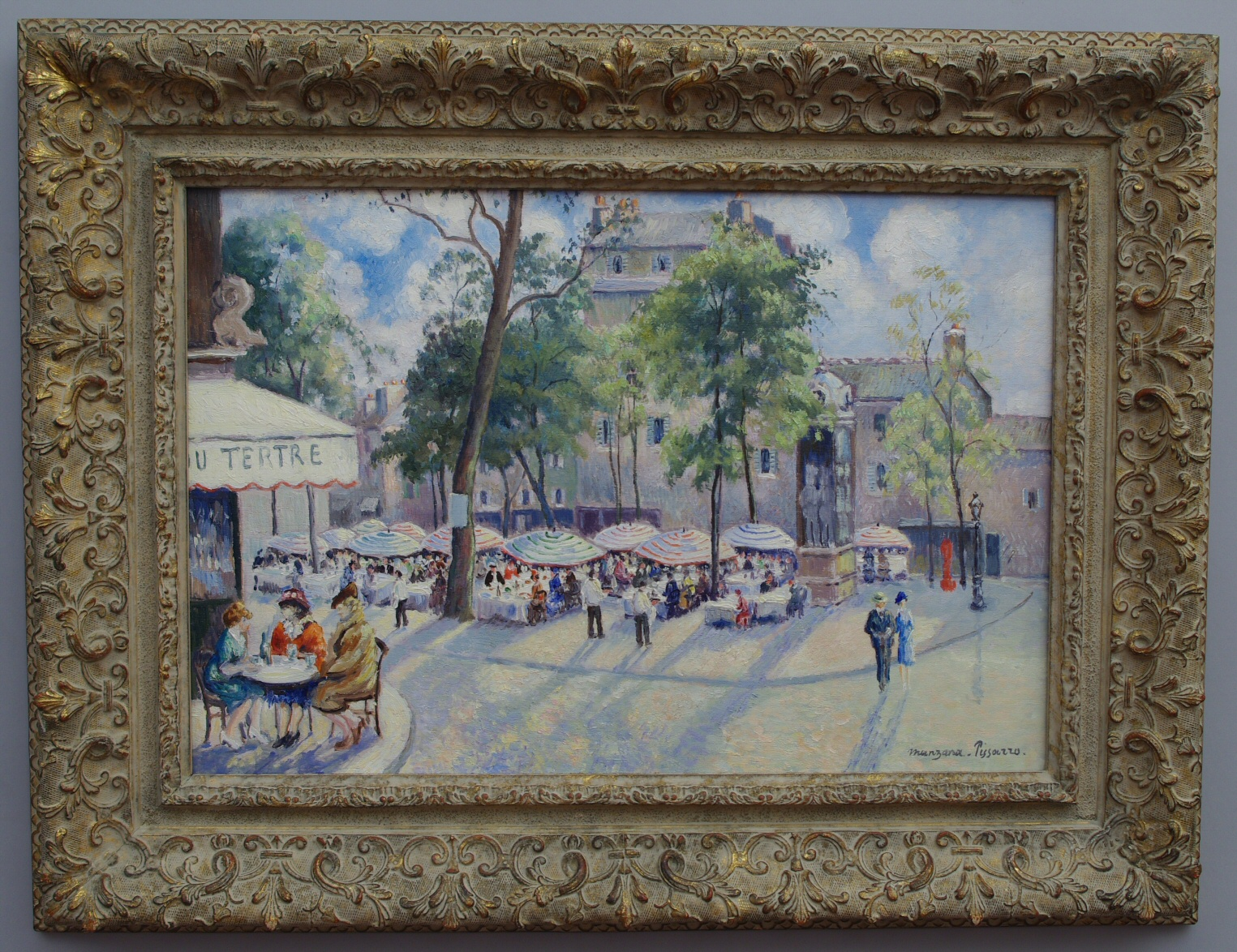 "View 2: Georges Manzana Pissarro (1871-1961) French ""Place du Tertre"""