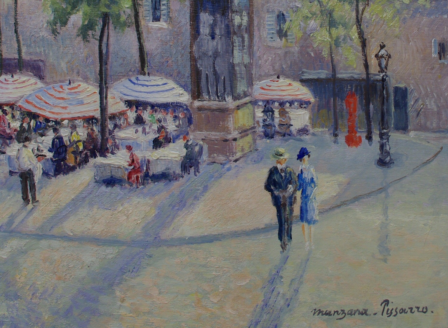 "View 4: Georges Manzana Pissarro (1871-1961) French ""Place du Tertre"""