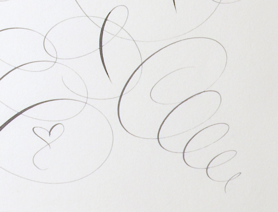 "View 3: ""Calligraphic Drawing, For Mom"""