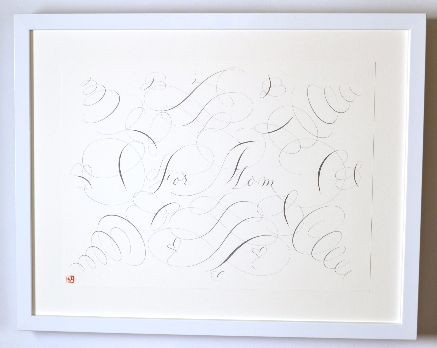 "View 5: ""Calligraphic Drawing, For Mom"""