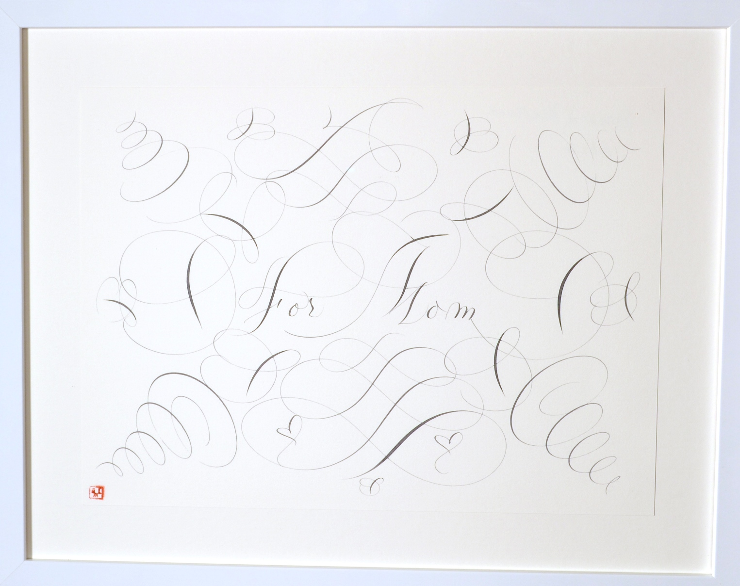 "View 6: ""Calligraphic Drawing, For Mom"""