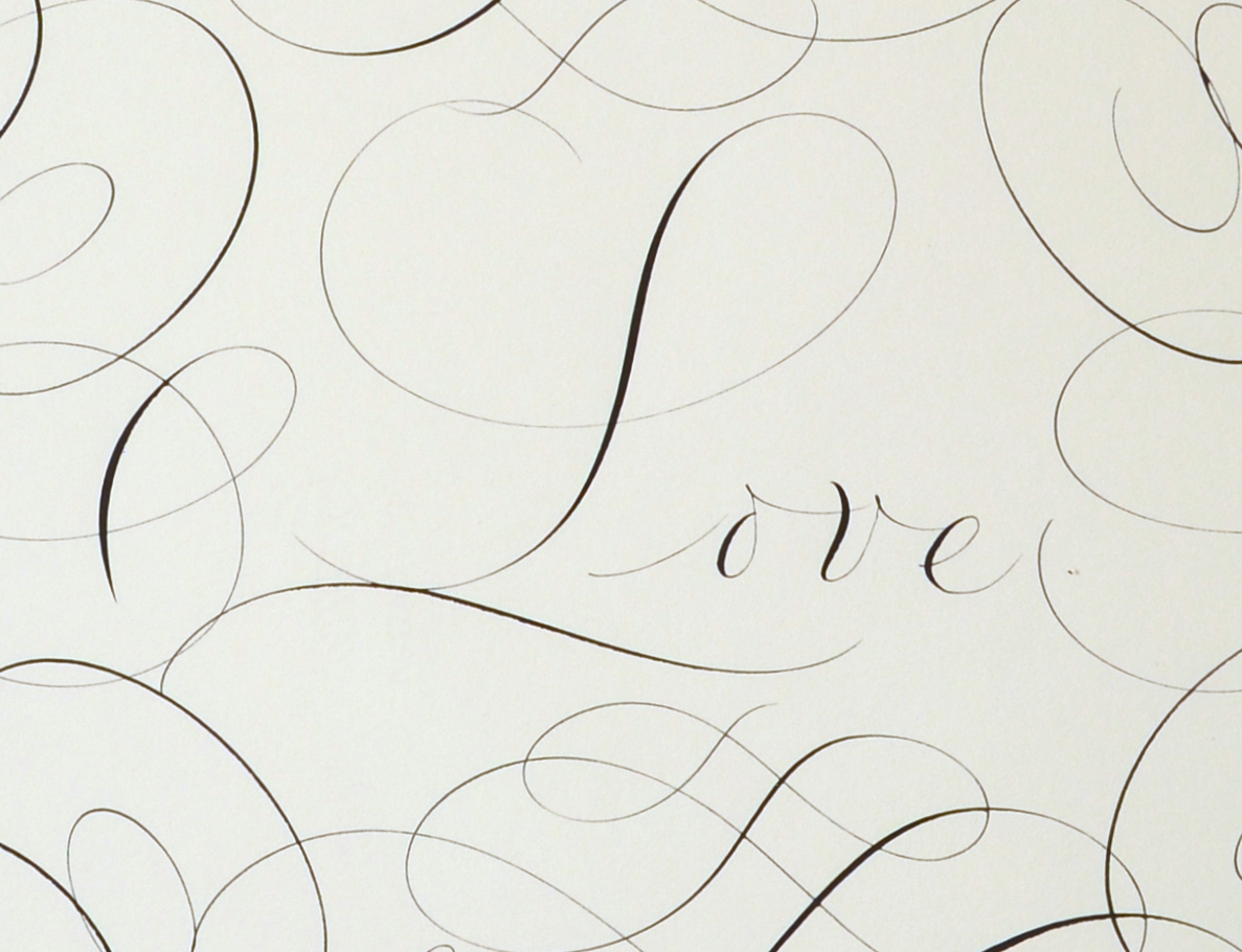"View 2: ""Calligraphic Drawing, Love"""