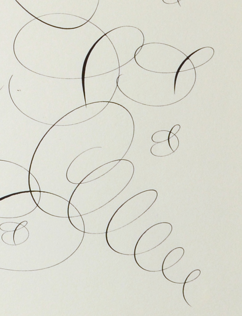 "View 3: ""Calligraphic Drawing, Love"""