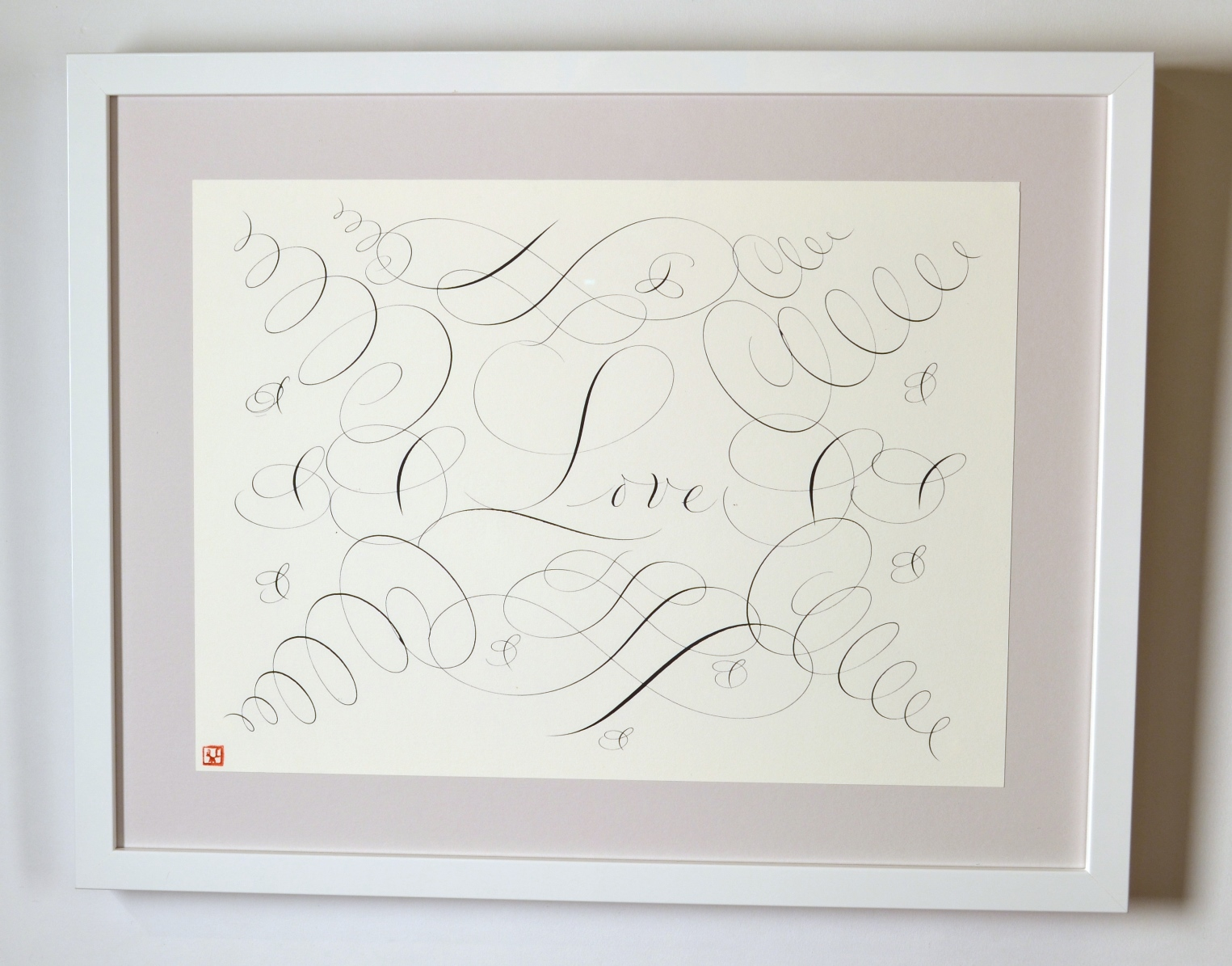 "View 5: ""Calligraphic Drawing, Love"""