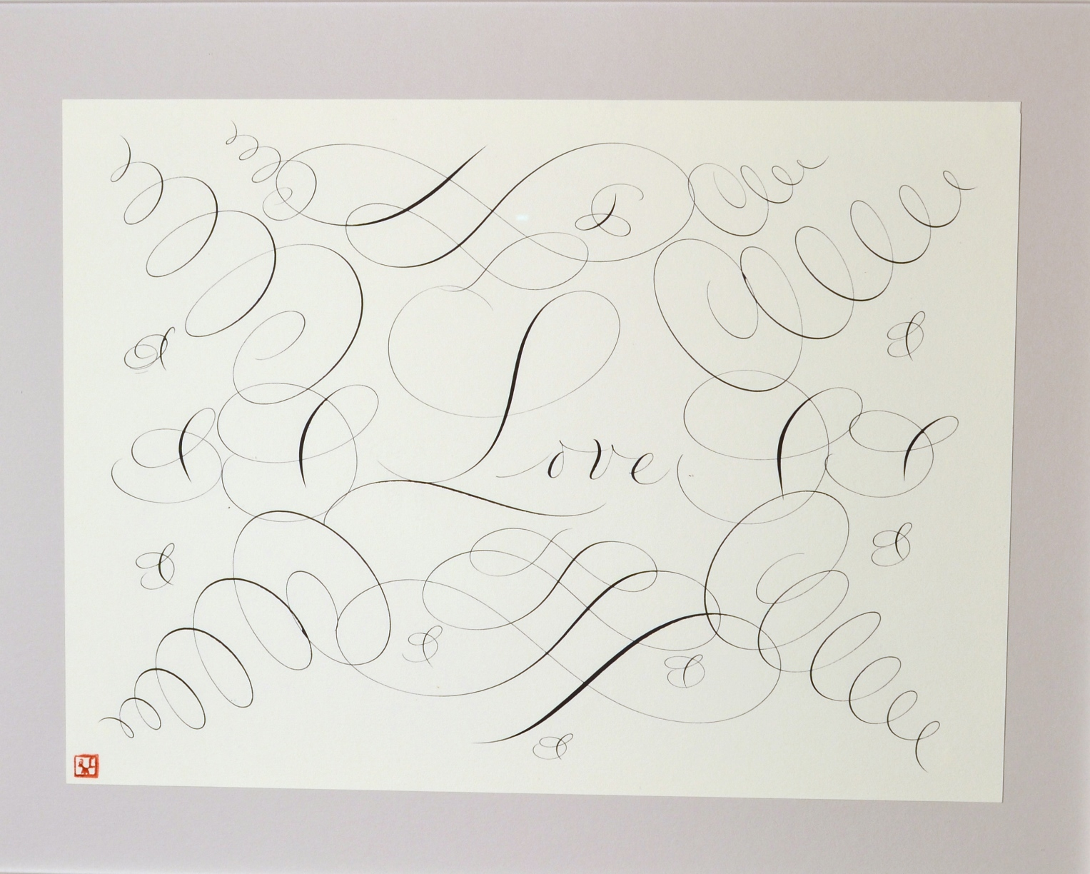 "View 6: ""Calligraphic Drawing, Love"""