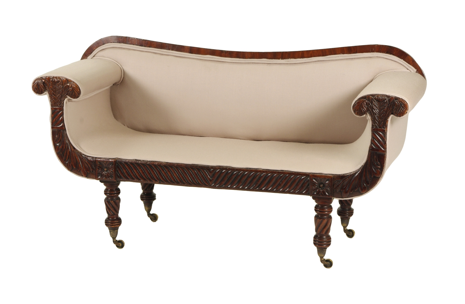 View 1: Regency Mahogany Child's Sofa, c. 1820