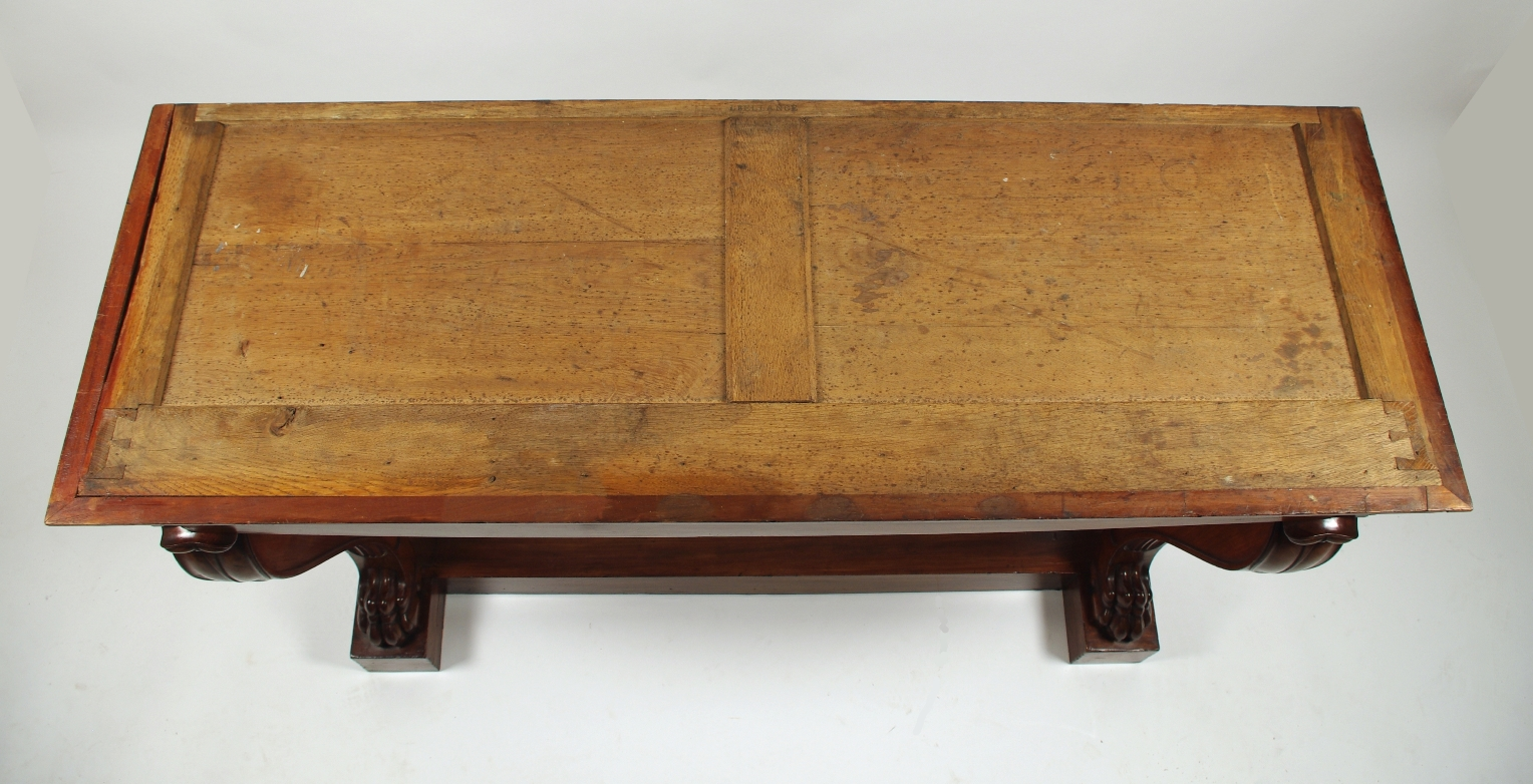View 8: Fine Charles X Mahogany Console Table