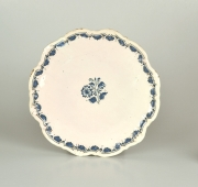 Blue and White Faience Salver