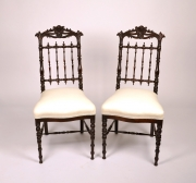 Fine Pair of Victorian Rosewood Side Chairs