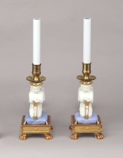 View 5: Pair of Paris Porcelain Putti Mounted as Lamps, c. 1810-20