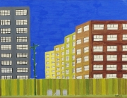 Outsider/Folk Art Urban Landscape