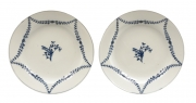 Pair of Marcolini Meissen Blue and White Chargers