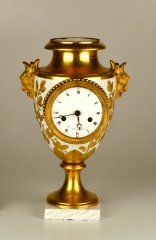 Old Paris Empire Vase Mounted with a Clock