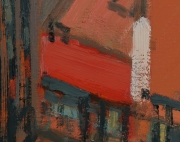 "View 7: City in Orange and Green 32"" x 58"""