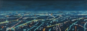 "View 2: Busy City Street in Blue  34"" x 50"""