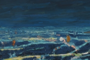 "View 4: Busy City Street in Blue  34"" x 50"""