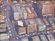 "Aerial View of City Corner      12"" x 16"""