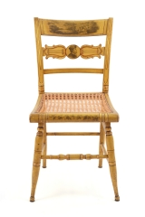 View 4: Set of Four New York Yellow Fancy Chairs with Benjamin Franklin, c. 1820